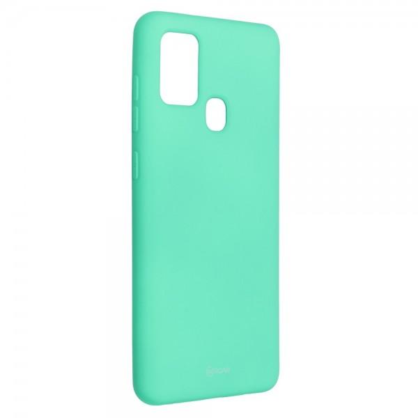 Husa Spate Silicon Roar Jelly Samsung Galaxy M21 - Verde Menta imagine itelmobile.ro 2021
