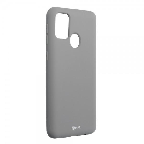 Husa Spate Silicon Roar Jelly Samsung Galaxy M21 - Gri imagine itelmobile.ro 2021