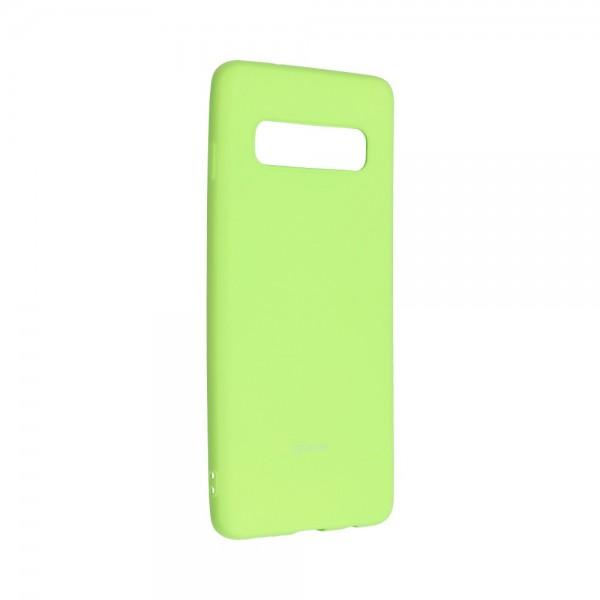 Husa Spate Silicon Roar Jelly Samsung Galaxy S10 - Verde Lime imagine itelmobile.ro 2021
