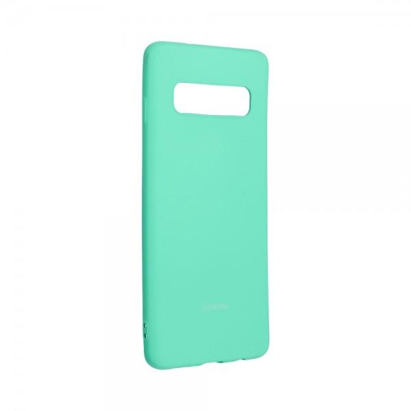 Husa Spate Silicon Roar Jelly Samsung Galaxy S10 - Verde Menta imagine itelmobile.ro 2021