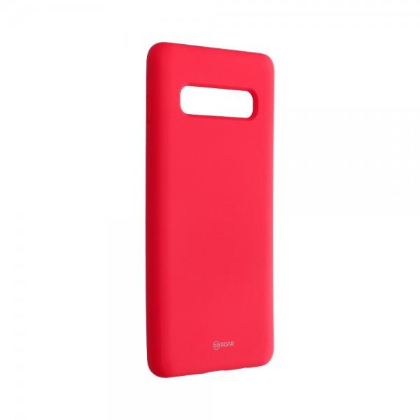 Husa Spate Roar Colorful Jelly Samsung Galaxy S10 Plus Silicon Roz imagine itelmobile.ro 2021