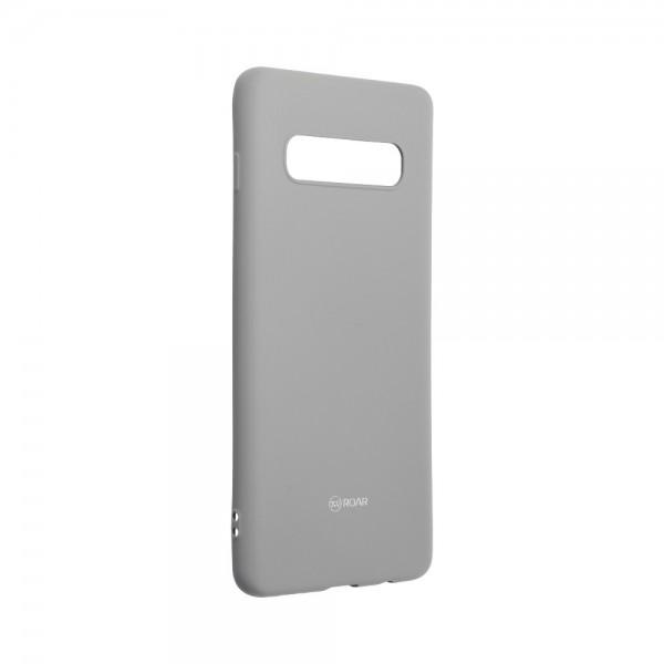 Husa Spate Silicon Roar Jelly Samsung Galaxy S10 - Gri imagine itelmobile.ro 2021