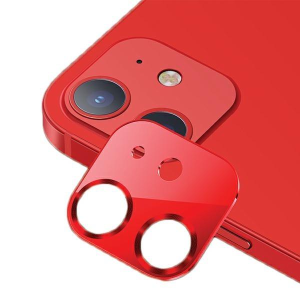 Protectie Camera Usams Metal Si Sticla Securizata Pentru iPhone 12 Mini - Rosu imagine itelmobile.ro 2021