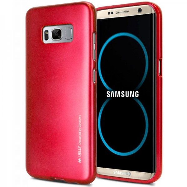 Husa Spate Goospery I-jelly Metal Samsung S8 Plus G955 Rosu imagine itelmobile.ro 2021