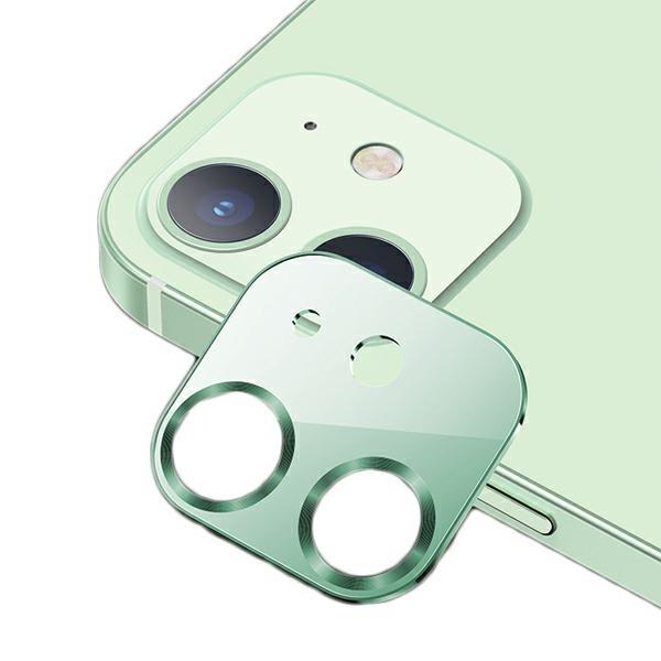 Protectie Camera Usams Metal Si Sticla Securizata Pentru iPhone 12 Mini - Verde imagine itelmobile.ro 2021
