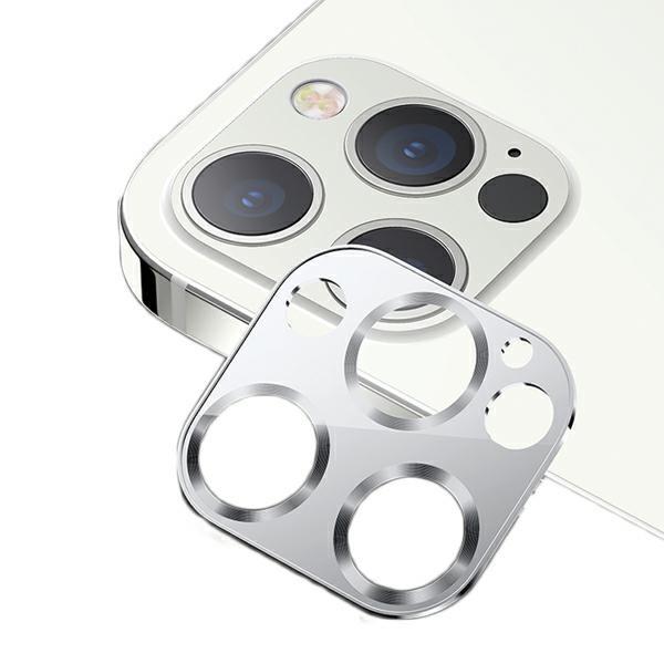 Protectie Camera Usams Metal Si Sticla Securizata Pentru iPhone 12 Pro Max - Silver imagine itelmobile.ro 2021