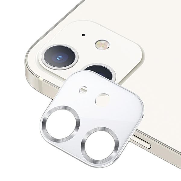Protectie Camera Usams Metal Si Sticla Securizata Pentru iPhone 12 - Silver White imagine itelmobile.ro 2021