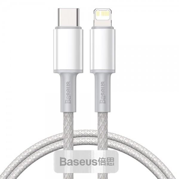 Cablu Premium Baseus Usb Type-c La Lightning Power Delivery Fast Charge 20w, 1m, Alb - Catlgd-02 imagine itelmobile.ro 2021