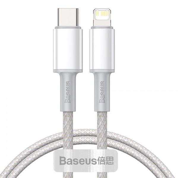 Cablu Premium Baseus Usb Type-c La Lightning Power Delivery Fast Charge 20w, 2m, Alb - Catlgd-a02 imagine itelmobile.ro 2021