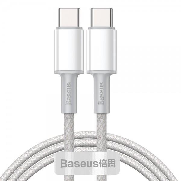 Cablu Premium Baseus Usb Type-c La Usb Type-c, Power Delivery 100w 5a, 1m Lungime, Alb - Catgd-02 imagine itelmobile.ro 2021