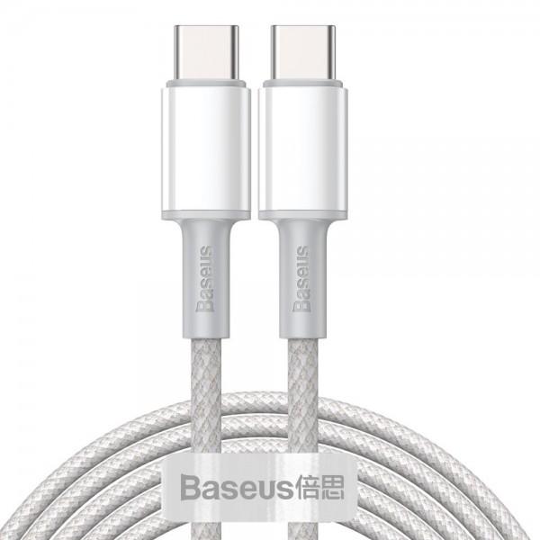 Cablu Premium Baseus Usb Type-c La Usb Type-c, Power Delivery 100w 5a, 2m Lungime, Alb - Catgd-a02 imagine itelmobile.ro 2021