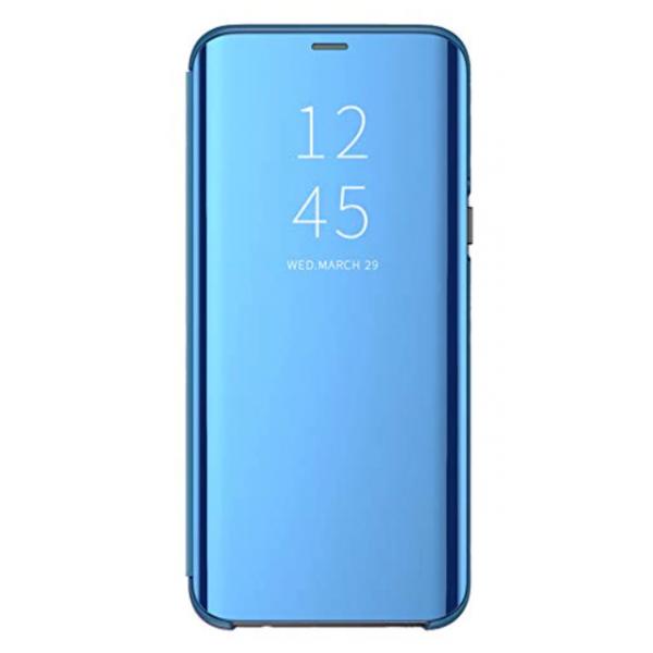 Husa Tip Carte Mirror Samsung Galaxy A10 Albastru - Cu Folie Sticla Marca Upzz Inclusa imagine itelmobile.ro 2021