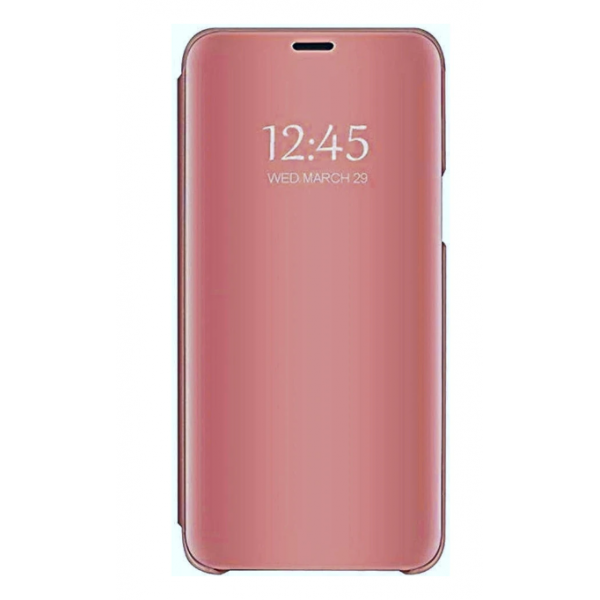 Husa Tip Carte Mirror Compatibila Cu Upzz Samsung Galaxy A40, Roz imagine itelmobile.ro 2021