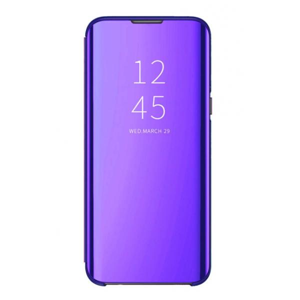 Husa Flip Cover Upzz Mirror Compatibila Cu Samsung Galaxy A6+ Plus 2018, Mov imagine itelmobile.ro 2021