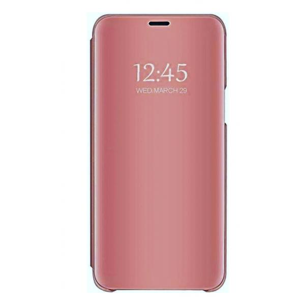 Husa Flip Cover Upzz Mirror Compatibila Cu Samsung Galaxy A6+ Plus 2018, Roz imagine itelmobile.ro 2021