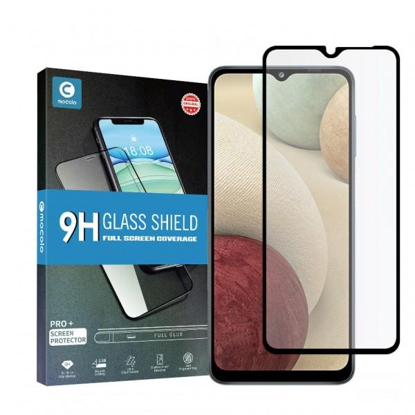 Folie Sticla Full Cover Full Glue Mocolo Samsung Galaxy A12, Cu Adeziv Pe Toata Suprafata Foliei Neagra imagine itelmobile.ro 2021