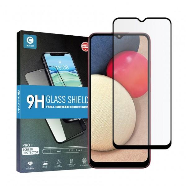 Folie Sticla Full Cover Full Glue Mocolo Samsung Galaxy A02s, Cu Adeziv Pe Toata Suprafata Foliei Neagra imagine itelmobile.ro 2021