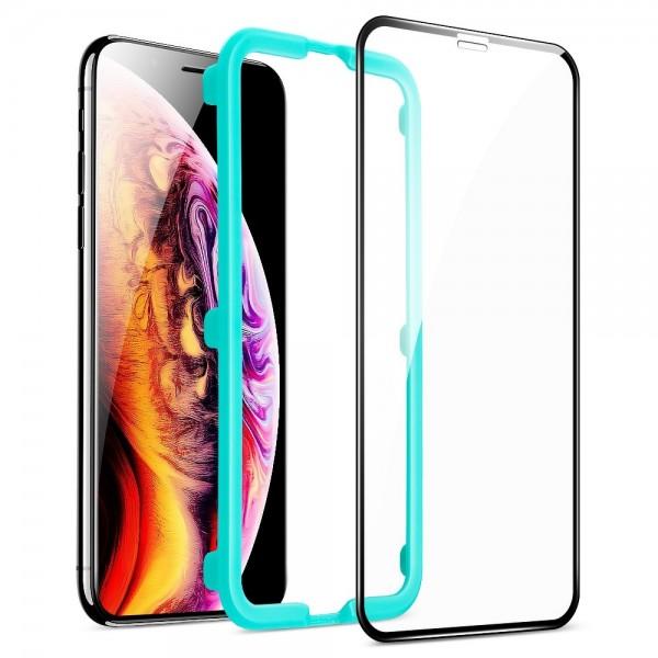 Folie Premium Full Cover Esr 3d Pentru iPhone 11 / Xr, Transparenta Cu Margine Neagra imagine itelmobile.ro 2021