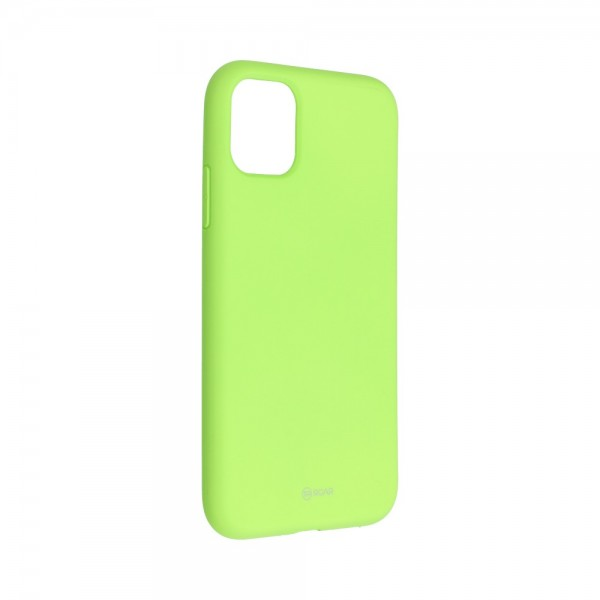 Husa Spate Silicon Roar Jelly Compatibila Cu iPhone 11, Verde Lime imagine itelmobile.ro 2021