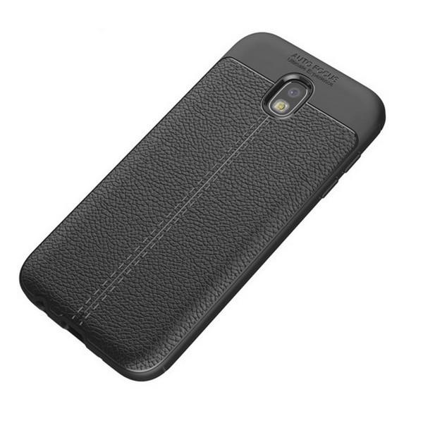 Husa Spate Slim Leather Model Pentru Samsung Galaxy J5 2017, Negru imagine itelmobile.ro 2021