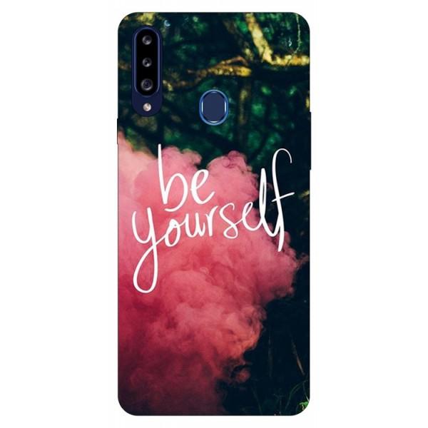 Husa Silicon Soft Upzz Print Samsung Galaxy A20s Model Be Yourself imagine itelmobile.ro 2021