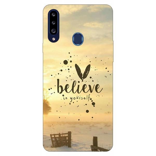 Husa Silicon Soft Upzz Print Samsung Galaxy A20s Model Believe imagine itelmobile.ro 2021