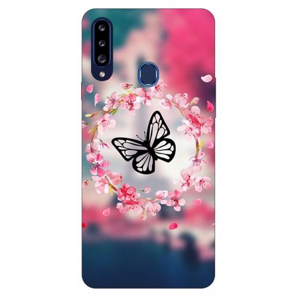 Husa Silicon Soft Upzz Print Samsung Galaxy A20s Model Butterfly imagine itelmobile.ro 2021