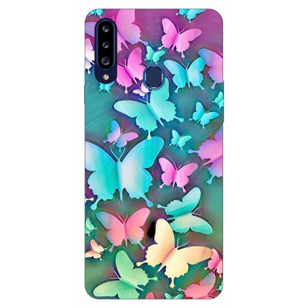 Husa Silicon Soft Upzz Print Samsung Galaxy A20s Model Colorful Butterflies imagine itelmobile.ro 2021
