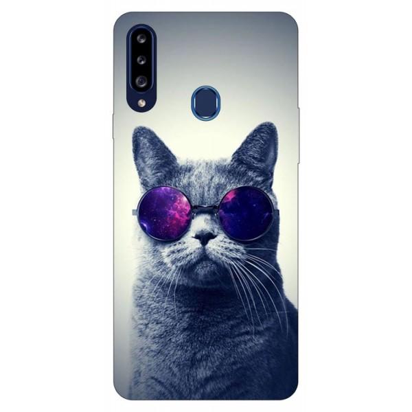 Husa Silicon Soft Upzz Print Samsung Galaxy A20s Model Cool Cat imagine itelmobile.ro 2021