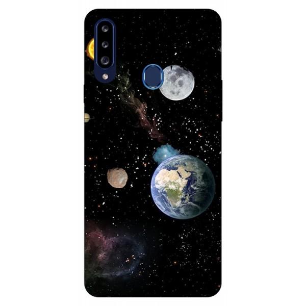 Husa Silicon Soft Upzz Print Samsung Galaxy A20s Model Earth imagine itelmobile.ro 2021