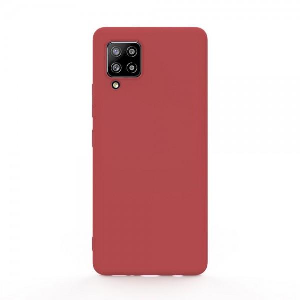 Husa Slim Silicon Upzz Samsung Galaxy A12, Rosu imagine itelmobile.ro 2021