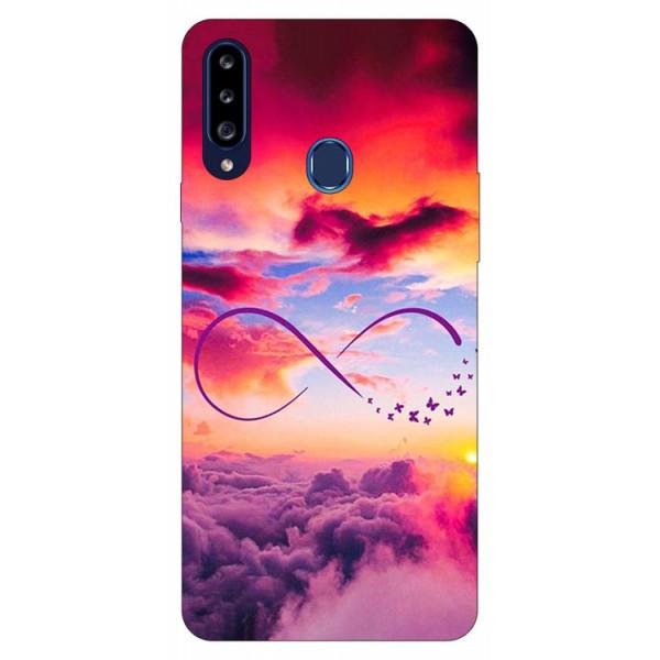 Husa Silicon Soft Upzz Print Samsung Galaxy A20s Model Infinity imagine itelmobile.ro 2021