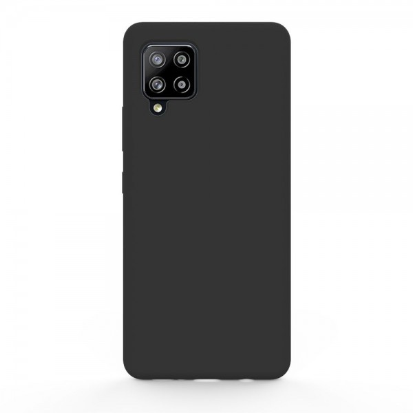 Husa Slim Silicon Upzz Samsung Galaxy A12, Negru imagine itelmobile.ro 2021