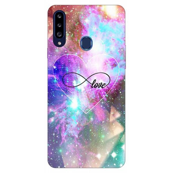 Husa Silicon Soft Upzz Print Samsung Galaxy A20s Model Neon Love imagine itelmobile.ro 2021
