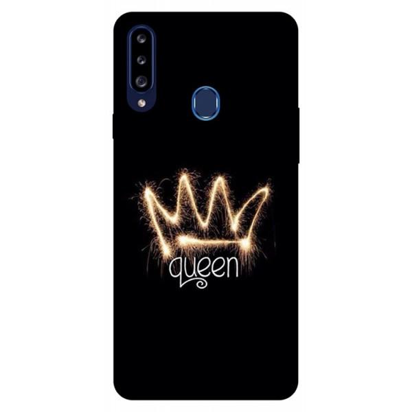 Husa Silicon Soft Upzz Print Samsung Galaxy A20s Model Queen imagine itelmobile.ro 2021