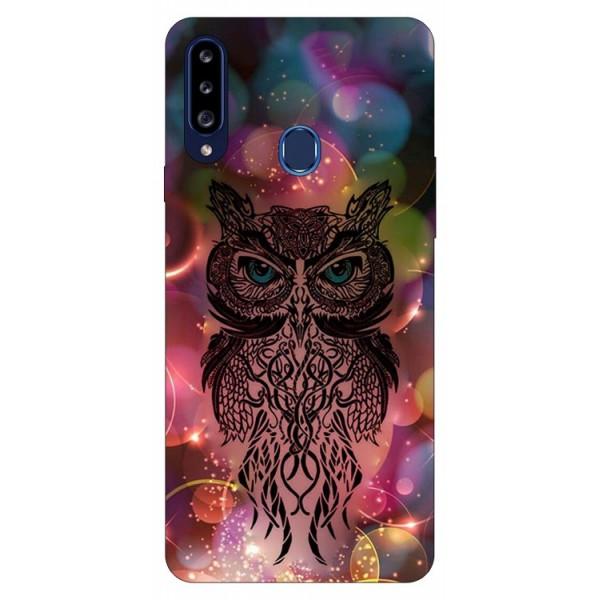 Husa Silicon Soft Upzz Print Samsung Galaxy A20s Model Sparkle Owl imagine itelmobile.ro 2021