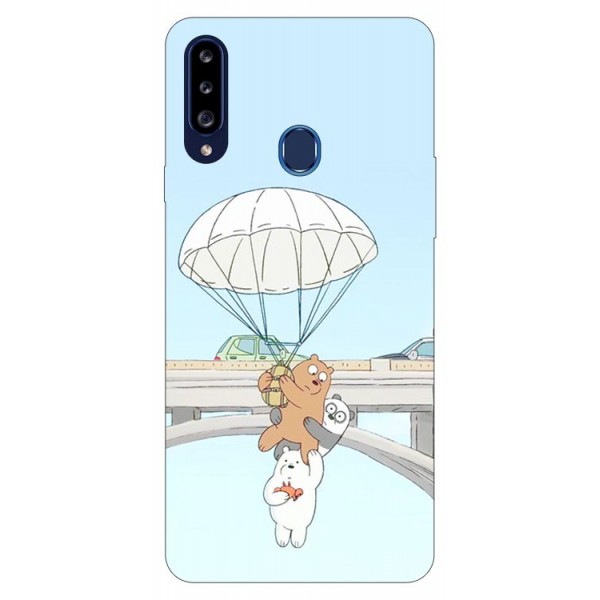 Husa Silicon Soft Upzz Print Samsung Galaxy A20s Model Three Bears imagine itelmobile.ro 2021