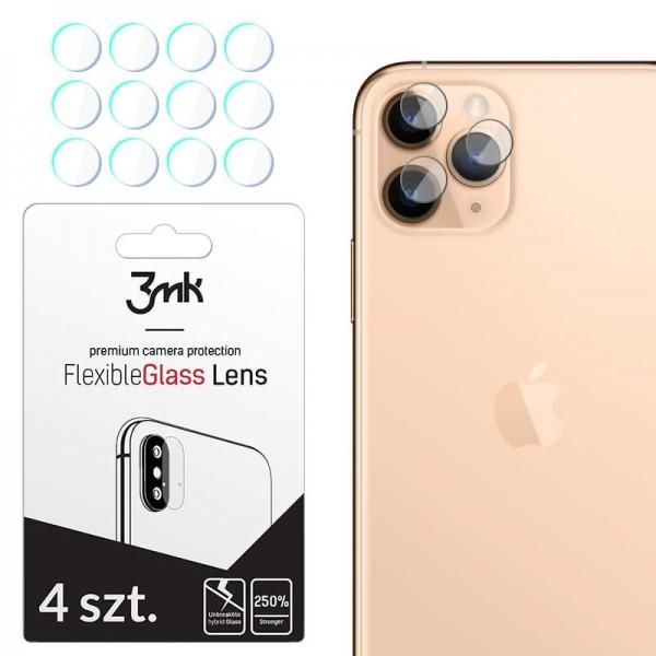 Set 4 Buc Folie Sticla Nano Glass Pentru Camera 3mk iPhone 11 Pro Max Transparenta imagine itelmobile.ro 2021