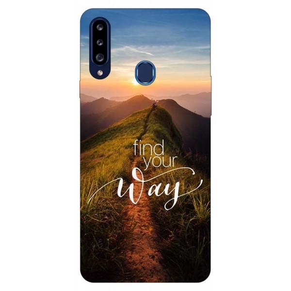 Husa Silicon Soft Upzz Print Samsung Galaxy A20s Model Way imagine itelmobile.ro 2021