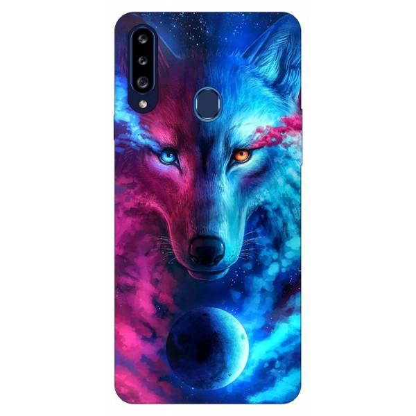 Husa Silicon Soft Upzz Print Samsung Galaxy A20s Model Wolf imagine itelmobile.ro 2021