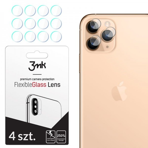 Set 4 Buc Folie Sticla Nano Glass Pentru Camera 3mk iPhone 11 Pro Transparenta imagine itelmobile.ro 2021