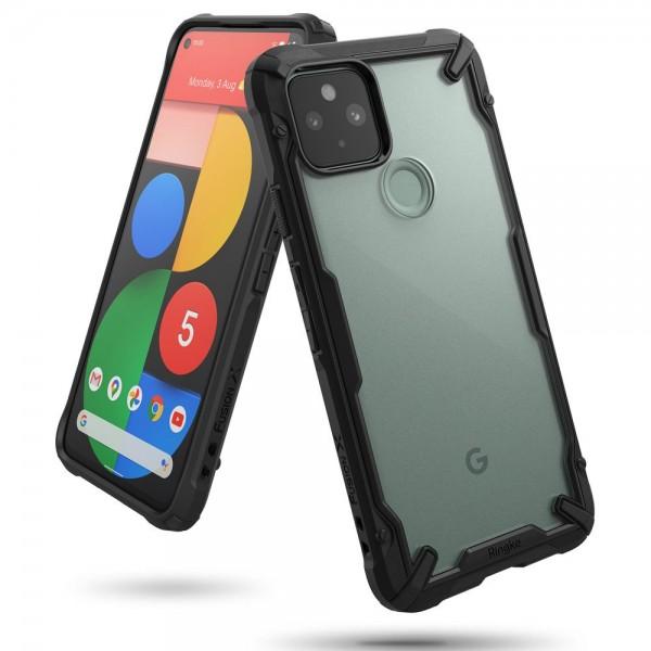 Husa Premium Ringke Fusion X Compatibila Cu Google Pixel 5, Transparenta Cu Margine Neagra imagine itelmobile.ro 2021