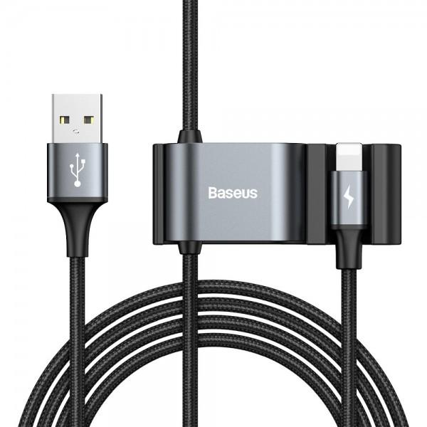 Cablu Date Premium Baseus Cu Prelungire De Porturi Pentru Bancheta Din Spate 2 X Usb, 1.5m, Lighning imagine itelmobile.ro 2021