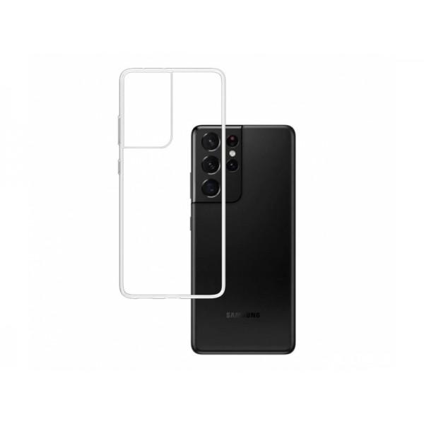 Husa Premium 3mk Pentru Samsung Galaxy S21 Ultra, Transparenta, Anti - Alunecare imagine itelmobile.ro 2021