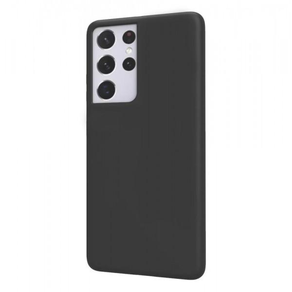 Husa Ultra Slim Upzz Candy Pentru Samsung Galaxy S21 Ultra, 1mm Grosime, Negru imagine itelmobile.ro 2021