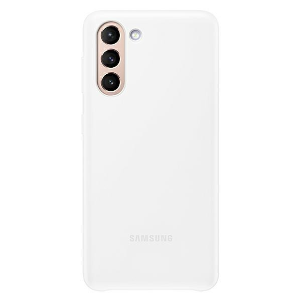 Husa Premium Originala Samsung Galaxy S21, Led Cover Back, Alb - Ef-kg991cw imagine itelmobile.ro 2021