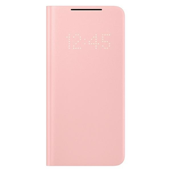 Husa Premium Originala Samsung Galaxy S21, Led View Cover, Roz - Ef-ng991pp imagine itelmobile.ro 2021