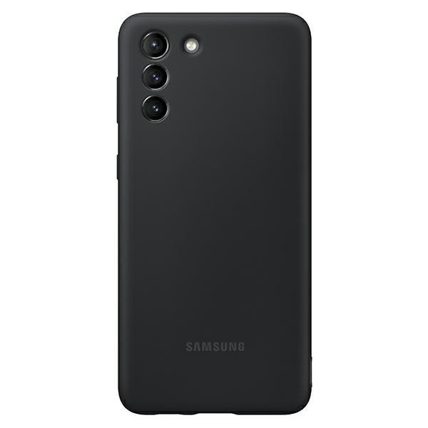 Husa Premium Originala Samsung Galaxy S21, Silicon, Invelis Alcantara Interior, Negru - Ef-pg991tb imagine itelmobile.ro 2021