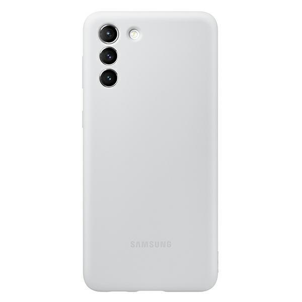Husa Premium Originala Samsung Galaxy S21, Silicon, Invelis Alcantara Interior, Gri - Ef-pg991tj imagine itelmobile.ro 2021