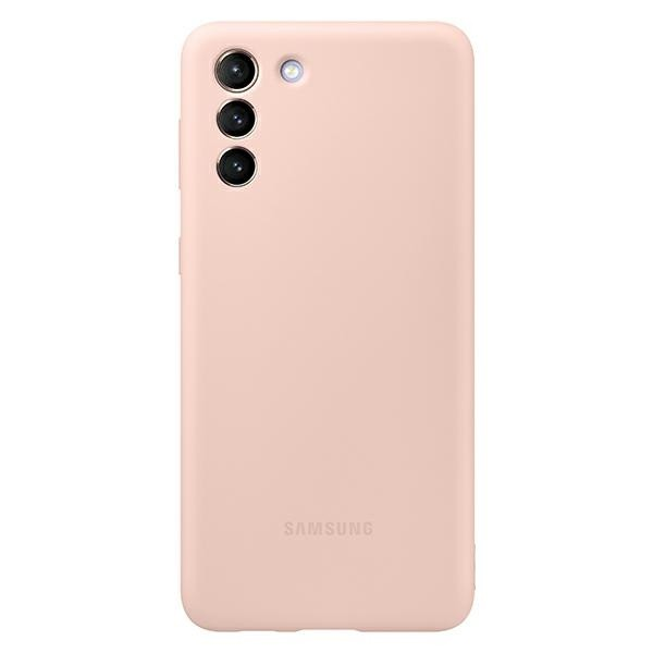 Husa Premium Originala Samsung Galaxy S21, Silicon, Invelis Alcantara Interior, Roz - Ef-pg991tp imagine itelmobile.ro 2021